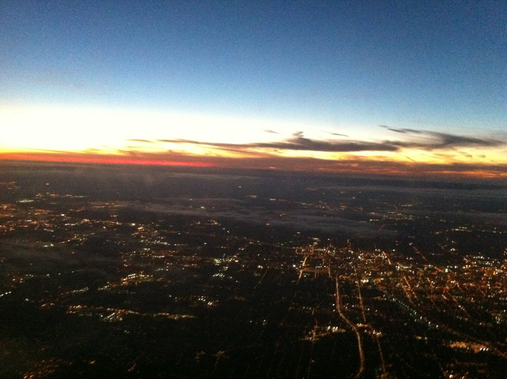 View of Atlanta from Delta Plane During Takeoff