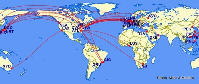 flight africa ethiopian airlines international route map 2016 delta