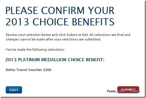 Delta Platinum Choice Benefit Confirmation