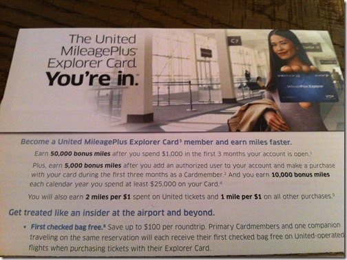 Chase United MileagePlus 50000 Mile Bonus Offer