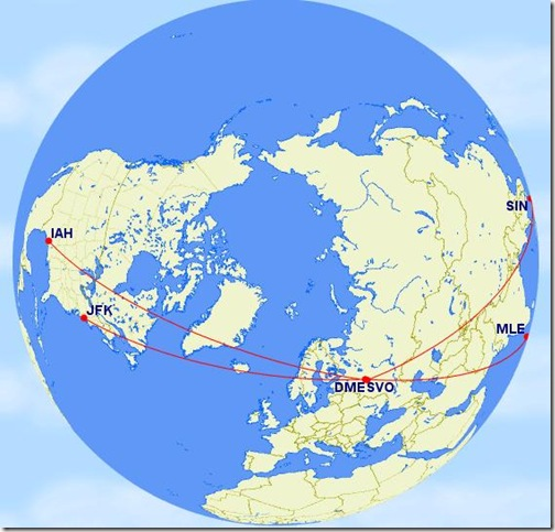 Russia transit routes to Maldives or Singapore