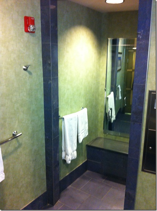 American Airlines Miami AAdmirals Club Shower