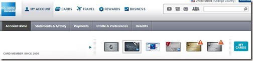 American Express Home Page