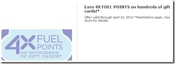 4x Kroger Fuel Points