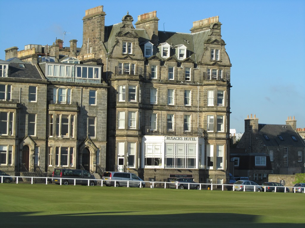 Rusacks Hotel Lobby From 1st Tee At St Andrews