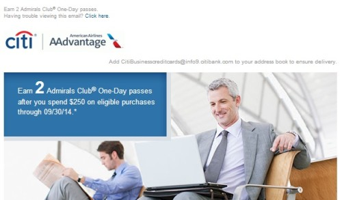 Two Admirals Club Passes