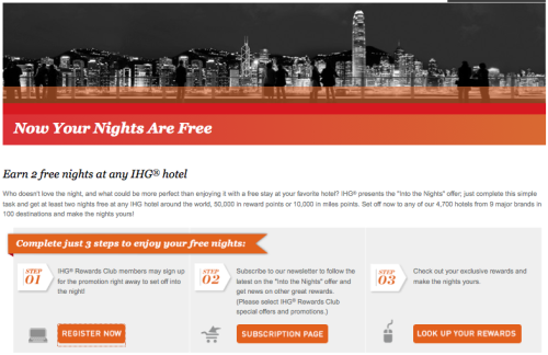Two Free Nights: IHG 'Into The Nights' Promotion Goes Live!