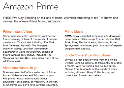 Get A Year Free Amazon Prime With Amazon Fire Phone Purchase Today!