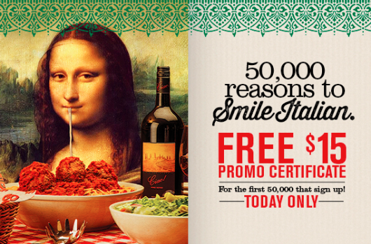 Free $15 At Buca di Beppo Offer!