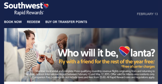 Live In Hotlanta? Fly Three And Friend Flies Free