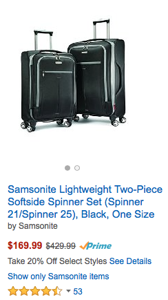 Amazon President's Sale= Additional 20-25% Off Luggage And More!