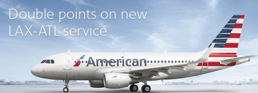 Double Points On American's New LAX-ATL Service