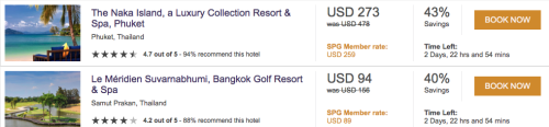 SPG Hot Escapes Up To 43% Off