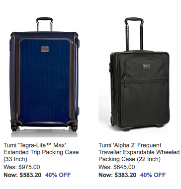 Nordstrom: Good Deals On Tumi & More