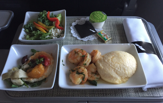 Review: American Airlines First Class Meal