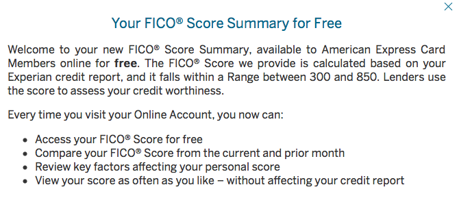 NEW Amex: Free FICO Scores For Cardmembers