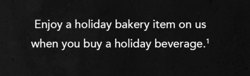 Starbucks Rewards Free Treat With Holiday Beverage Purchase Today!
