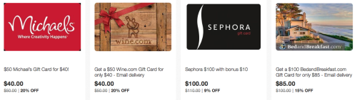 Discounted Gift Cards & Up To 4x eBay Bucks Promotion (Targeted)