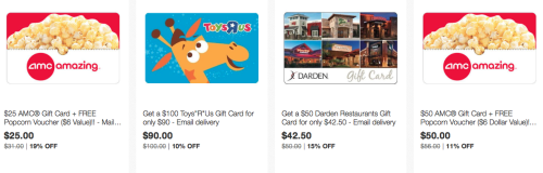 Round Up Of Discounted Gift Cards