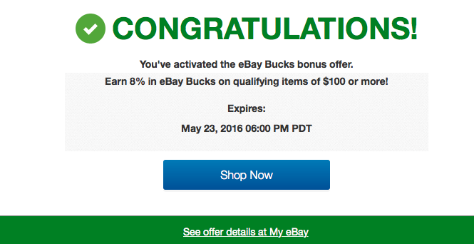 Discounted Gift Cards Even Sweeter With 8% eBay Bucks