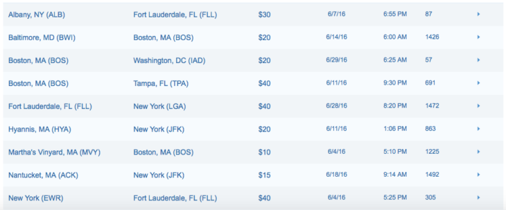 Deal Alert: JetBlue Flash Fares From $10 One Way