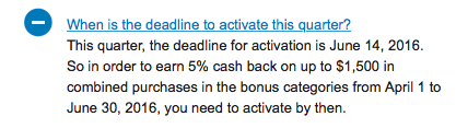 Last Chance Activate Chase Freedom 5% Q2 Categories