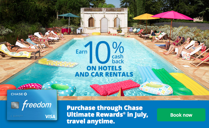 10% Cash Back On Travel With Chase!