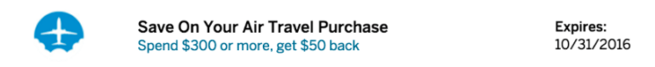 Amex Offer For You $50 Back On Airfare