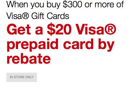 Staples $20 Rebate With $300 Visa Gift Card Offer