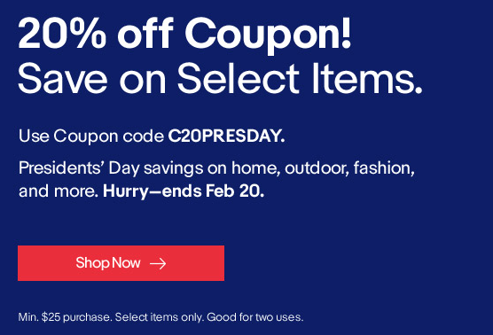 eBay 20% Off Coupon Code