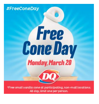 Free Dairy Queen Today Only!
