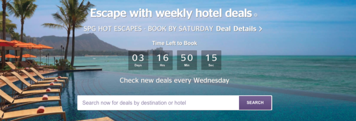 Save Up To 36% SPG Hot Escapes