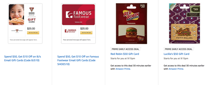 Amazon Discounted Gift Cards