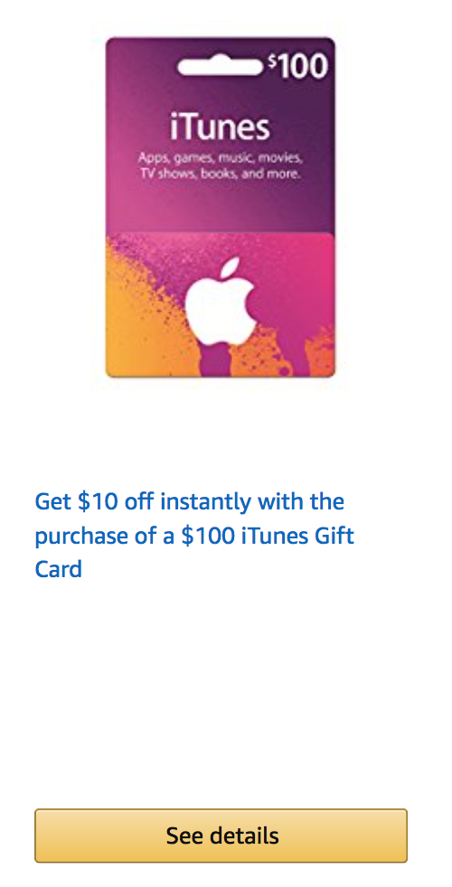 Amazon Discounted iTunes Gift Cards!