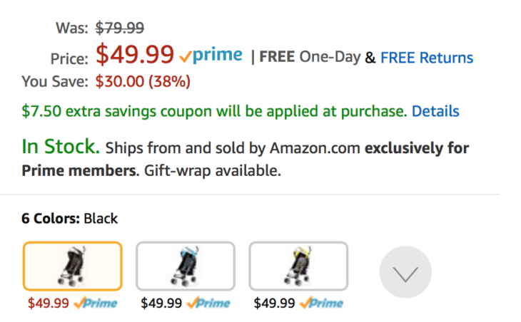 Amazon Nice Deal On Travel Stroller