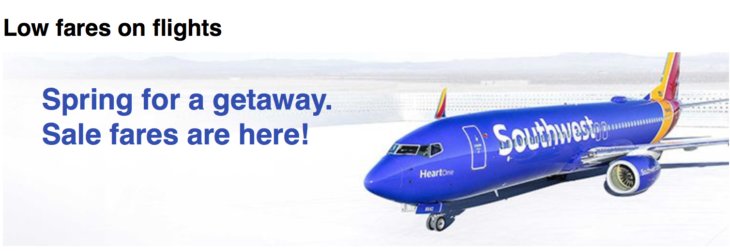 Deal Fares From $49!