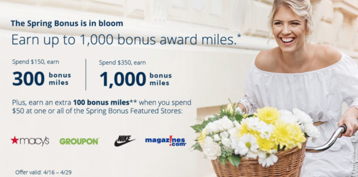 United Airlines Up To 1,000 Bonus Award Miles