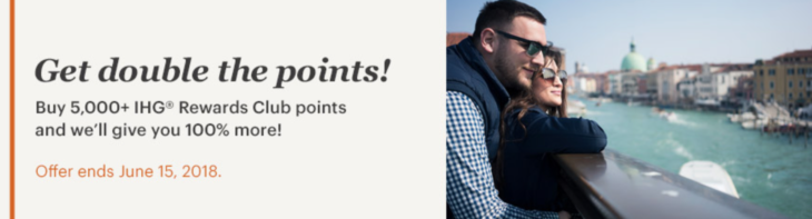 IHG 100% Bonus On Points
