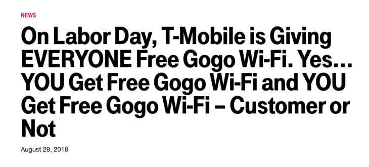 Flying Today? Get Free Go-Go WiFi