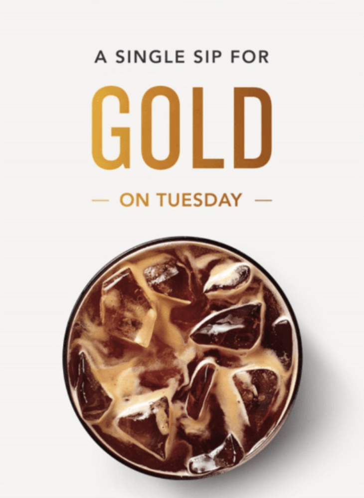 Easy! Starbucks Gold With 1 Purchase Today! (targeted)