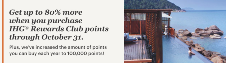 IHG Up To 100% Points Bonus