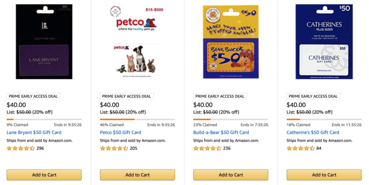 Amazon New Discounted Gift Card Deals
