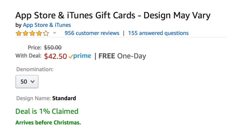 Amazon iTunes Gift Card Lighting Deal!