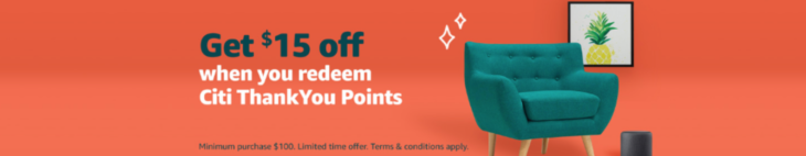 Amazon $15 Off With Citi ThankYou Point