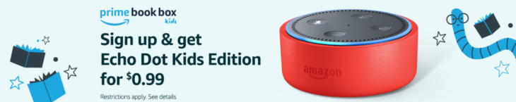 Amazon Echo Dot Kids For $.99 With Prime Book Box