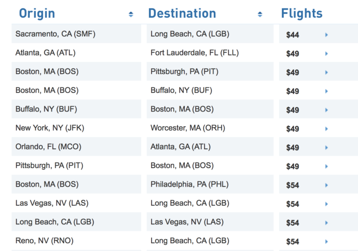 Deal Alert Fares From Only $44!