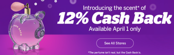 Ebates 12% Cash Back Today Only!