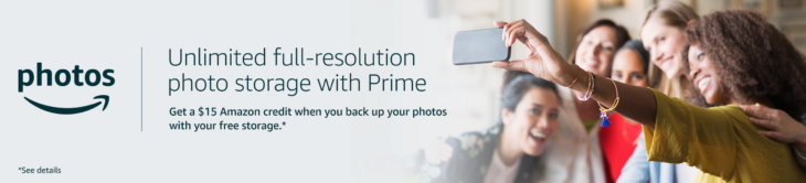 Amazon Free $15 Credit When Back Up Photos